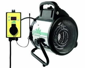 Bio Green Elektrogebläseheizung Palma digital, silber/schwarz, 2000 Watt